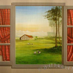 Une fenêtre ouverte sur un paysage champêtre gascon.