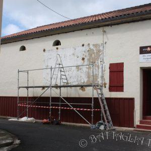 Préparation du mur