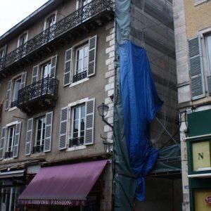 Lors du ravalement de façade d'un immeuble de centre-ville, s'est posé la question du mur aveugle