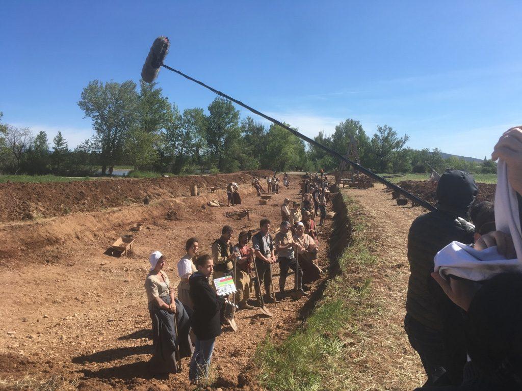 L'équipe de figurants juste avant le tournage